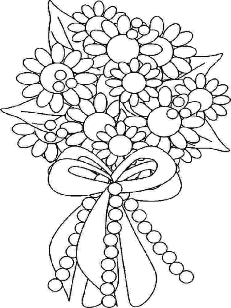 flower bouquet coloring pages flower coloring pages flower bouquet coloring pages