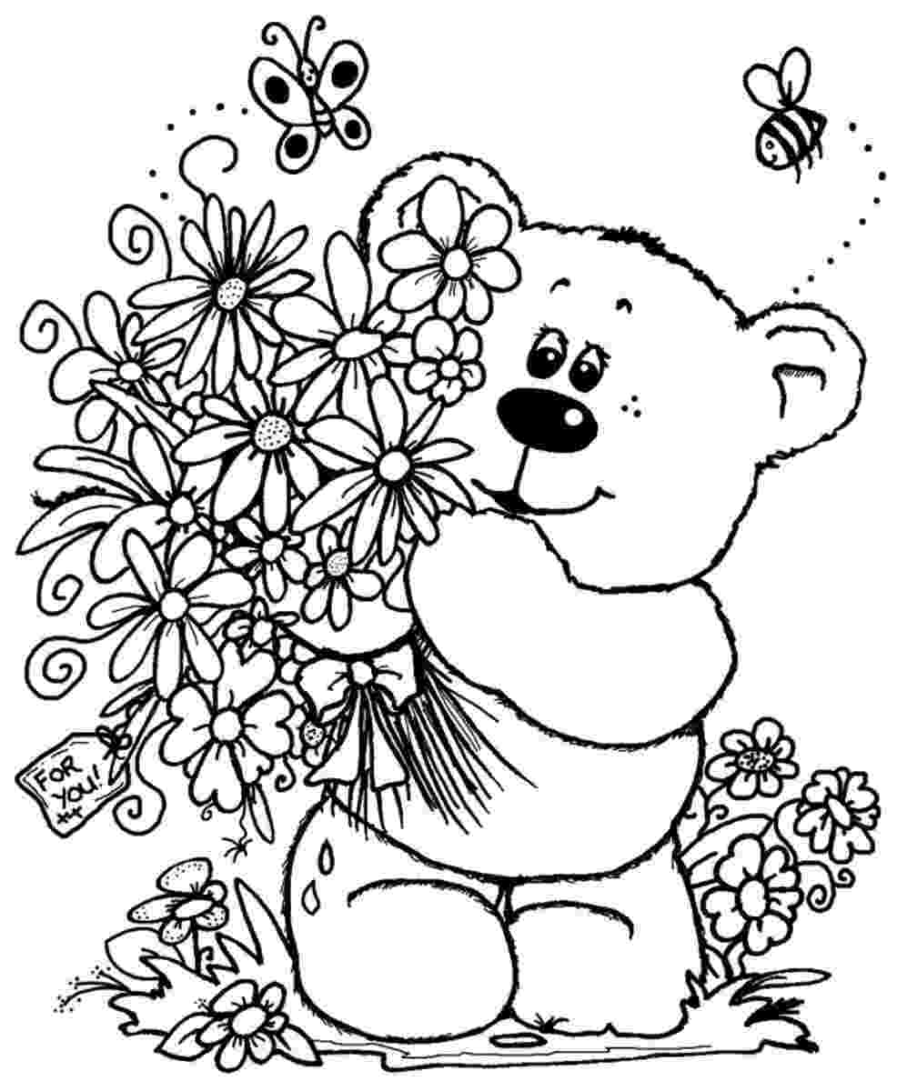 flower bouquet coloring pages flower coloring pages pages bouquet flower coloring