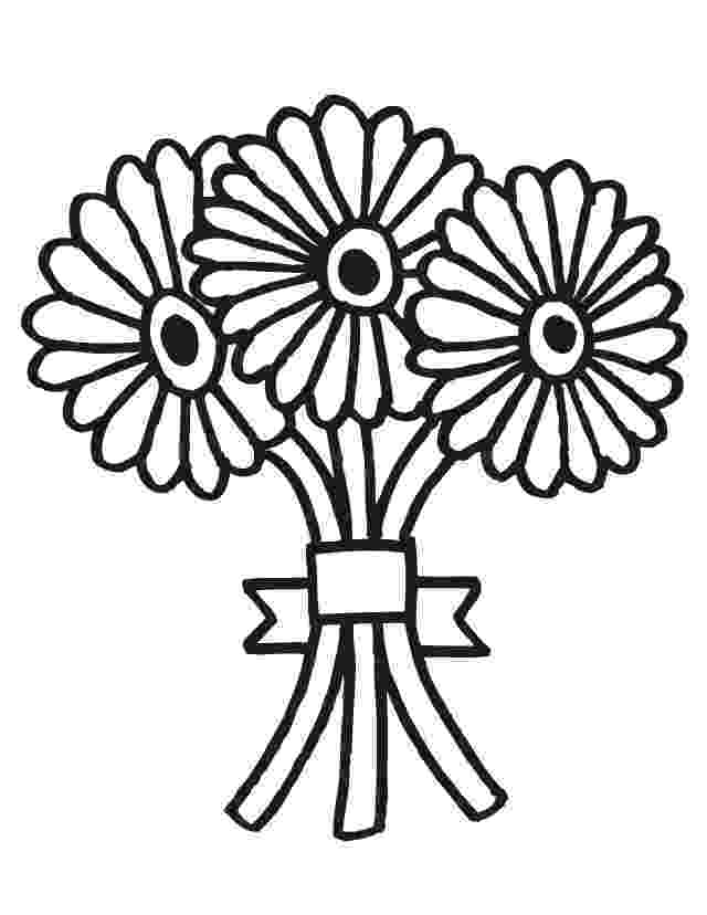 flower bouquet coloring pages free printable flower coloring pages for kids best bouquet coloring flower pages