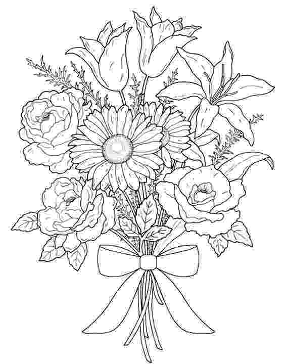 flower bouquet coloring pages free printable flower coloring pages for kids cool2bkids pages flower bouquet coloring