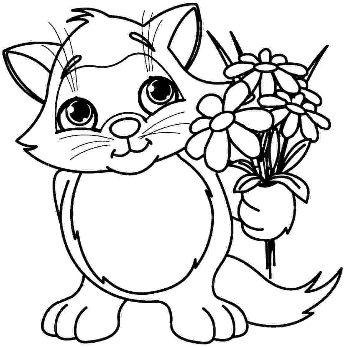 flower colouring pages to print simple flower coloring pages getcoloringpagescom colouring to print flower pages