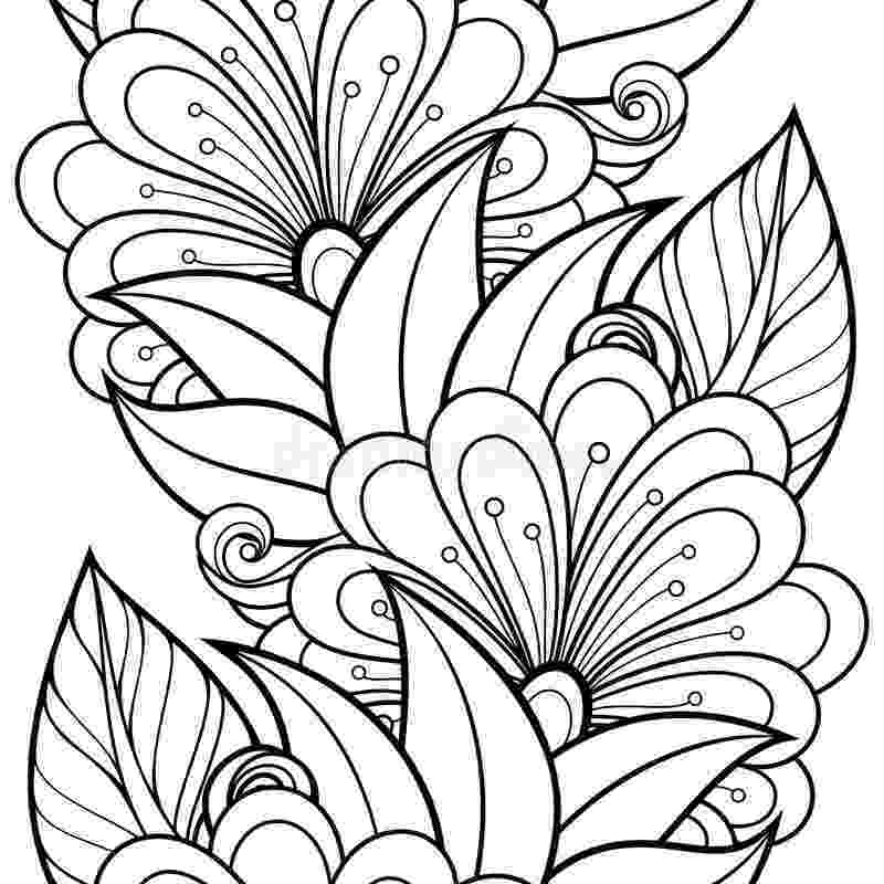 flower patterns coloring book adult coloring page flowers pattern black stock vector flower coloring patterns book