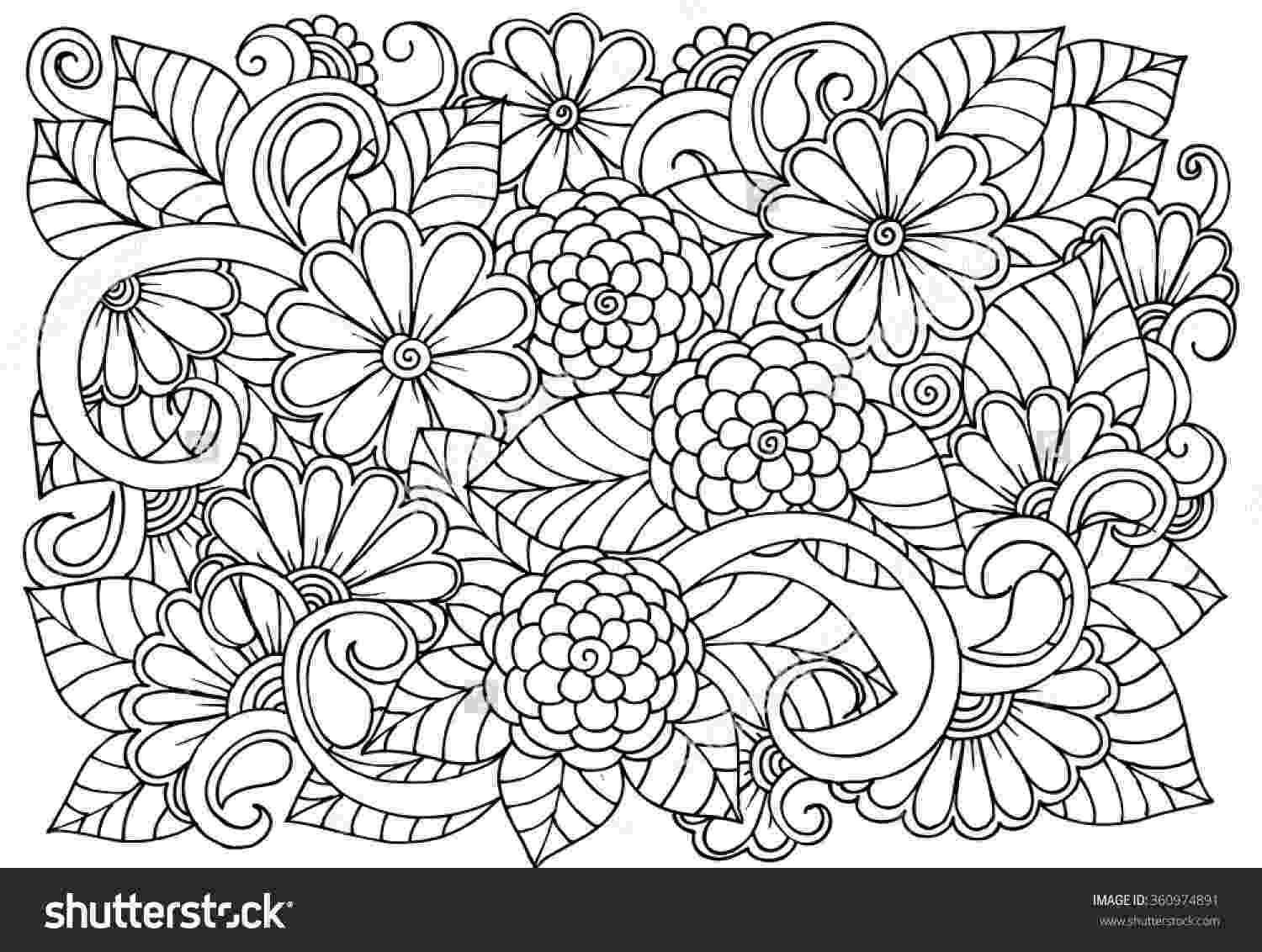 flower patterns coloring book black and white flower pattern for coloring doodle floral coloring patterns book flower