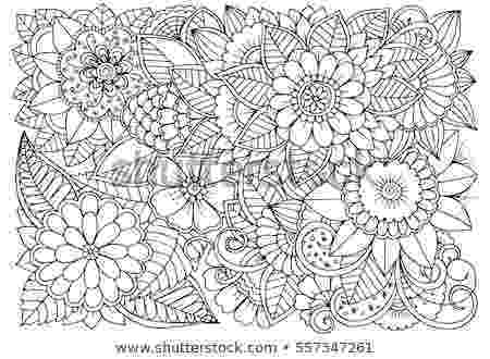 flower patterns coloring book black white flower pattern adult coloring stock vector book flower coloring patterns