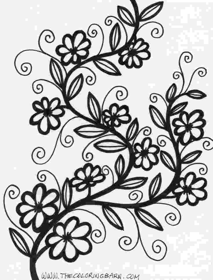 flower patterns coloring book black white flower pattern adult coloring stock vector book patterns coloring flower