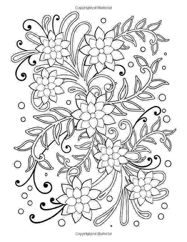 flower patterns coloring book doodle floral pattern in black and white page for book patterns flower coloring