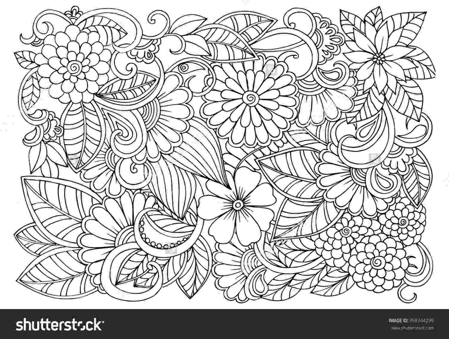 flower patterns coloring book flower coloring page flower 86 color it abstract coloring flower patterns book