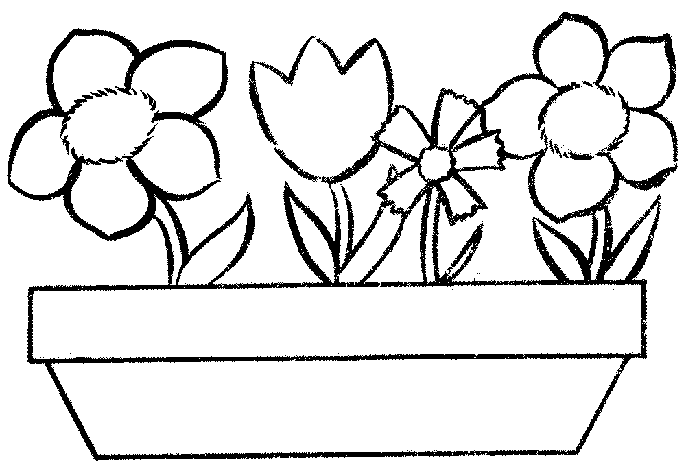 flower pot coloring page printable coloring page flower pot page printable coloring