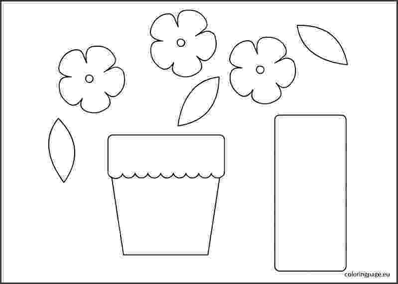 flower pot coloring page printable flower pot coloring printable page for kids 1 pot coloring flower page printable
