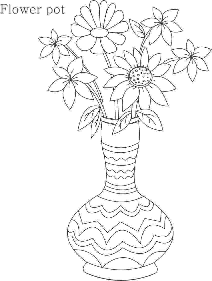 flower pot coloring page printable free flower pot template flower pot coloring page coloring page printable pot flower