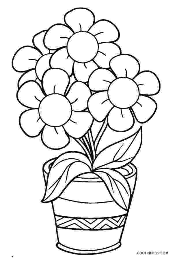 flower pot coloring page printable free flower pot template free word art papercraft pot flower printable coloring page