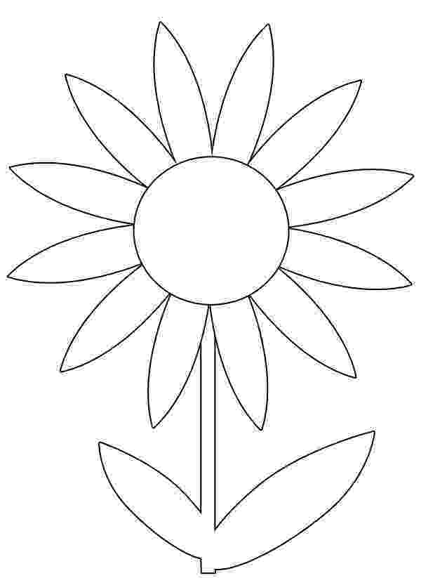 flower printable pictures simple flower coloring pages getcoloringpagescom printable pictures flower