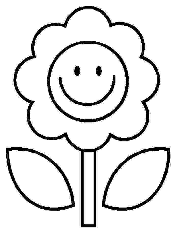 flower printables simple flower coloring page for kids free printable picture printables flower