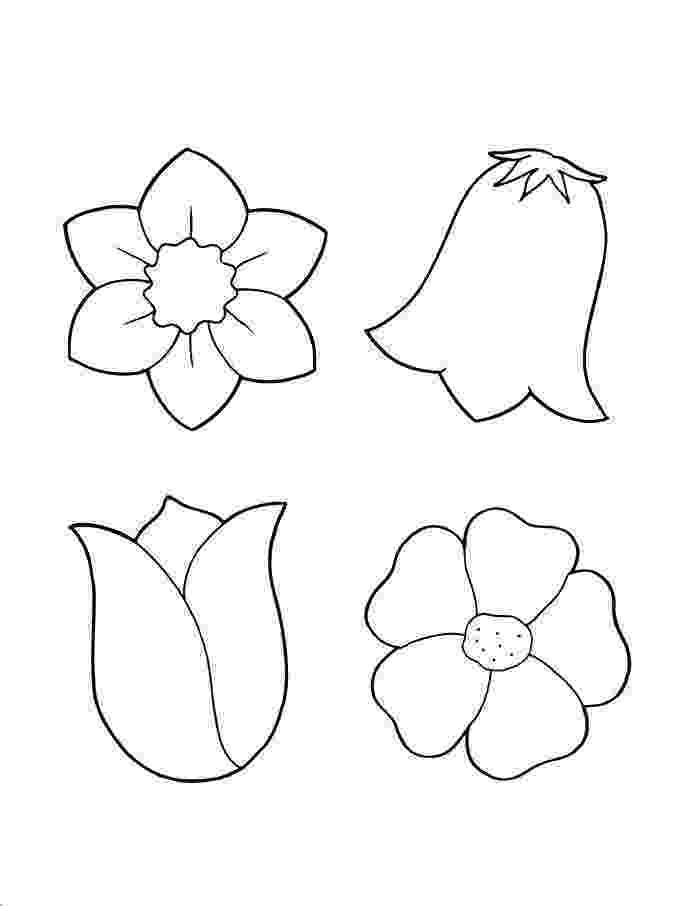 flower templates for coloring blank flower template free printable ceramic favs for templates flower coloring