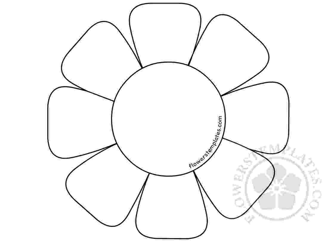 flower templates for coloring flower template to color loving printable flower for coloring templates