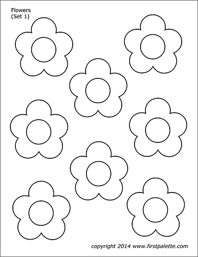 flower templates for coloring printable coloring pages flowers kids flower coloring templates for coloring flower