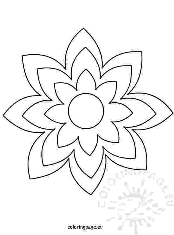 flower templates for coloring printable coloring pages of flowers free coloring pages coloring templates for flower