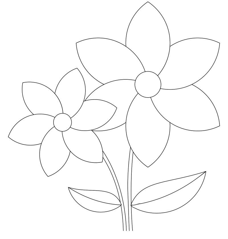 flower templates for coloring small flowers template coloring page flowers templates templates coloring flower for