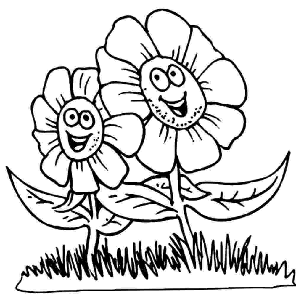 flowers to color print flower coloring pages to flowers print color