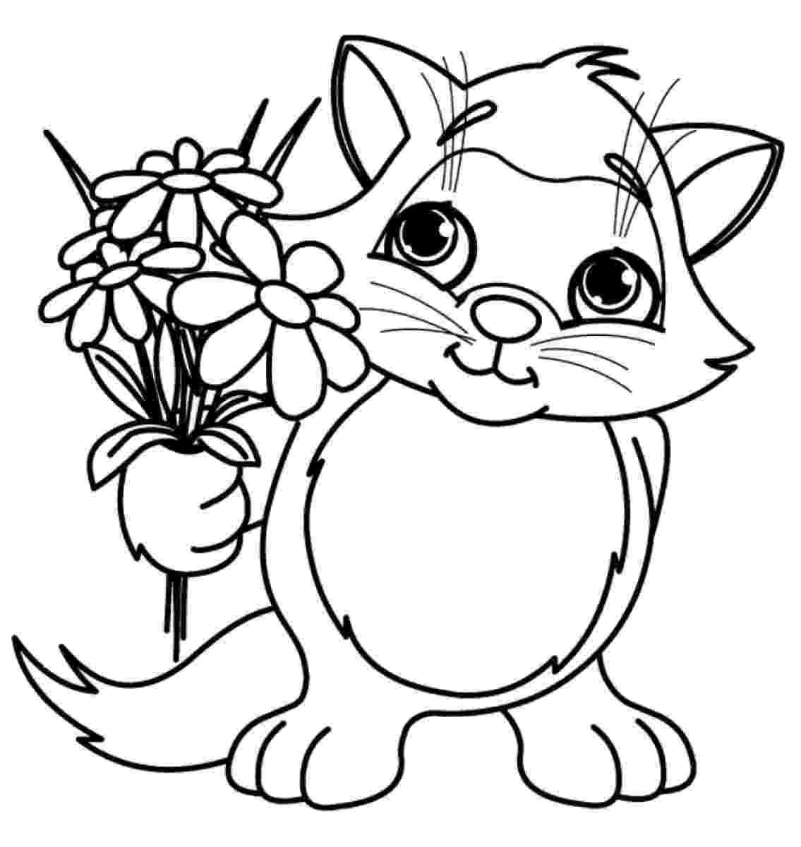 flowers to print and colour coloring pages for kids by mr adron flower hearts kid39s to flowers and colour print