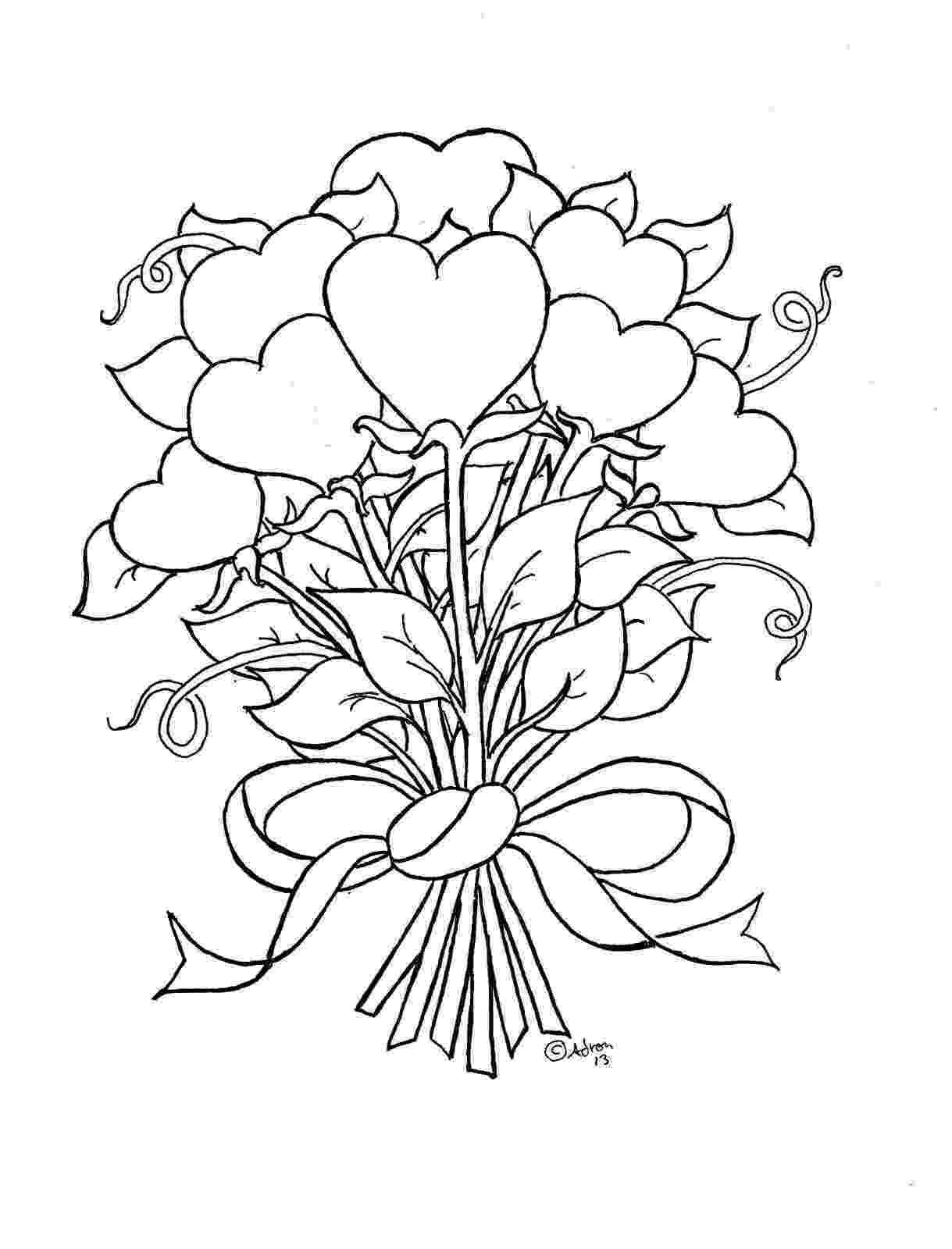 flowers to print and colour flower coloring pages part 2 colour to and flowers print