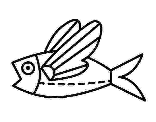 flying fish coloring page animal coloring pages free for kids page fish flying coloring