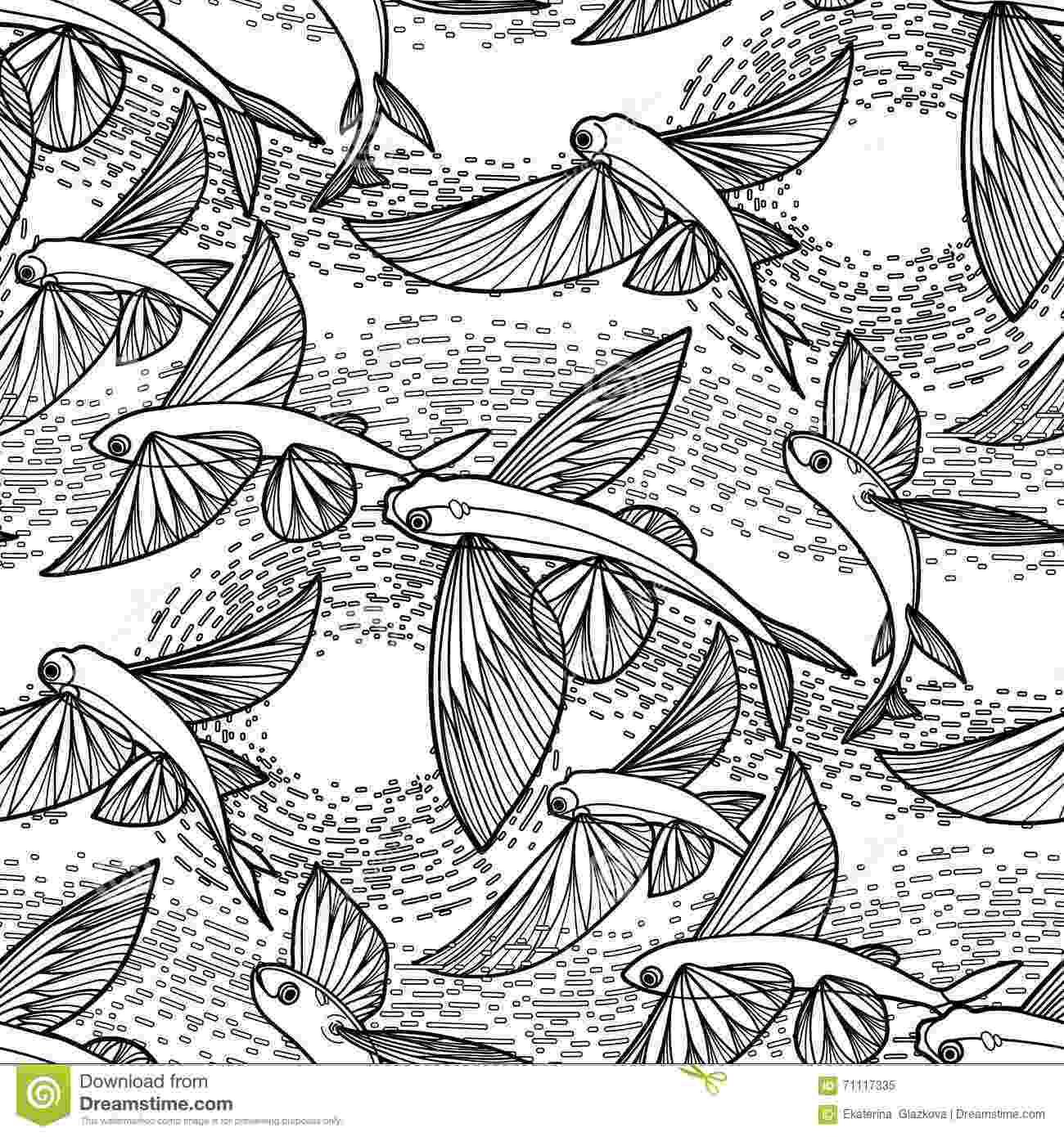 flying fish coloring page flying fish coloring page flying fish page coloring