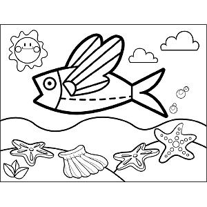 flying fish coloring page flying fish coloring pages download and print flying fish flying coloring fish page