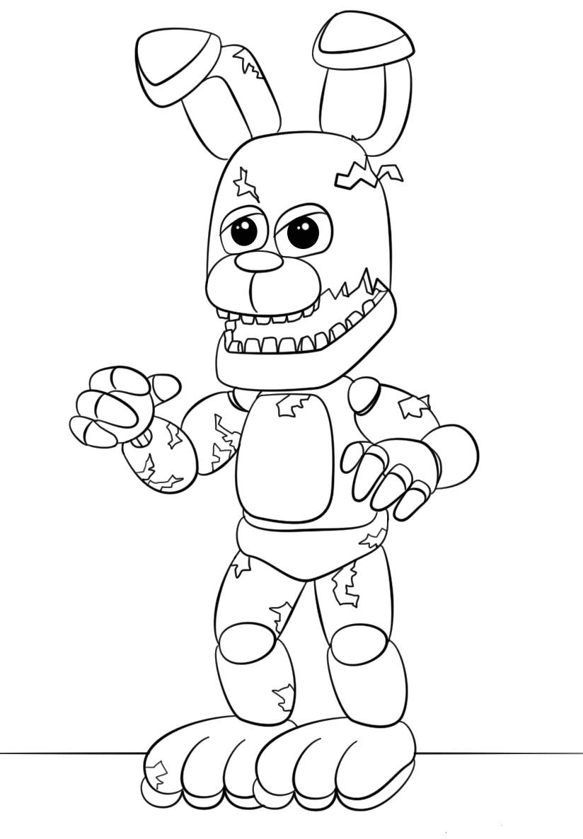 fnaf coloring pages fnaf foxy coloring page free printable coloring pages pages fnaf coloring