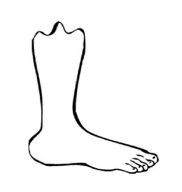 foot coloring page footprint pattern printable clipart best coloring page foot