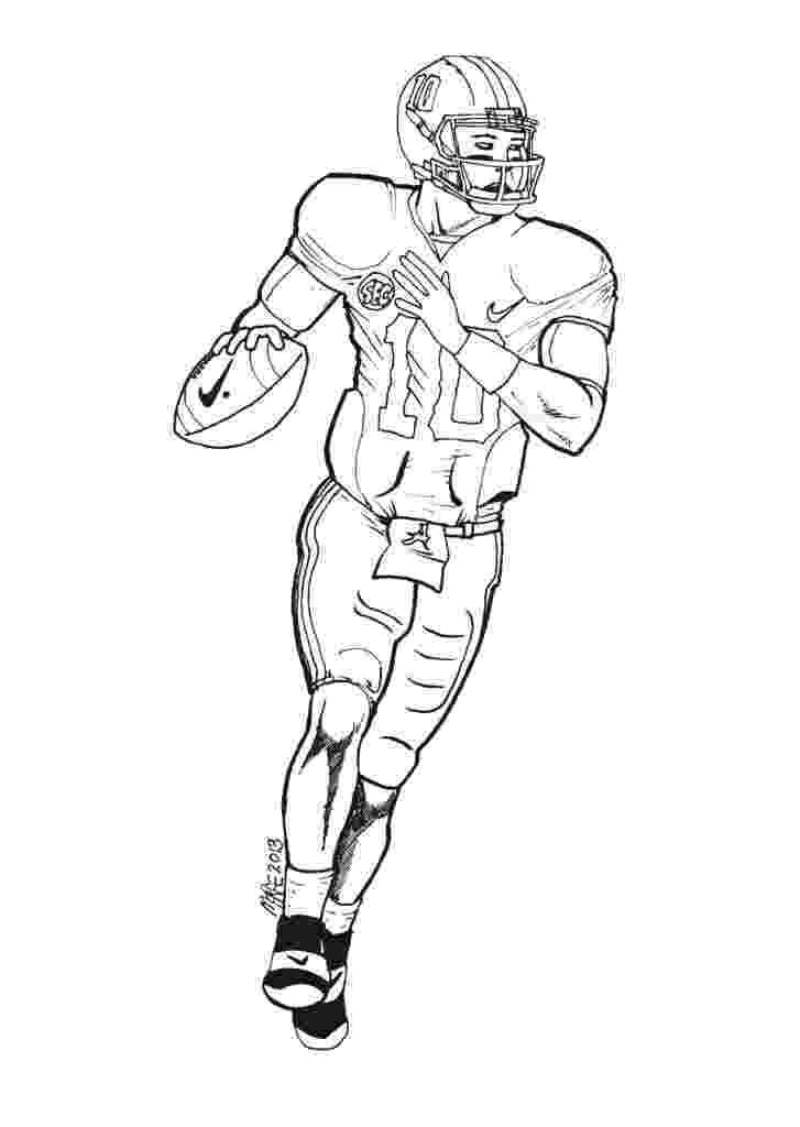 football coloring page printable football player coloring pages for kids cool2bkids coloring football page 1 1