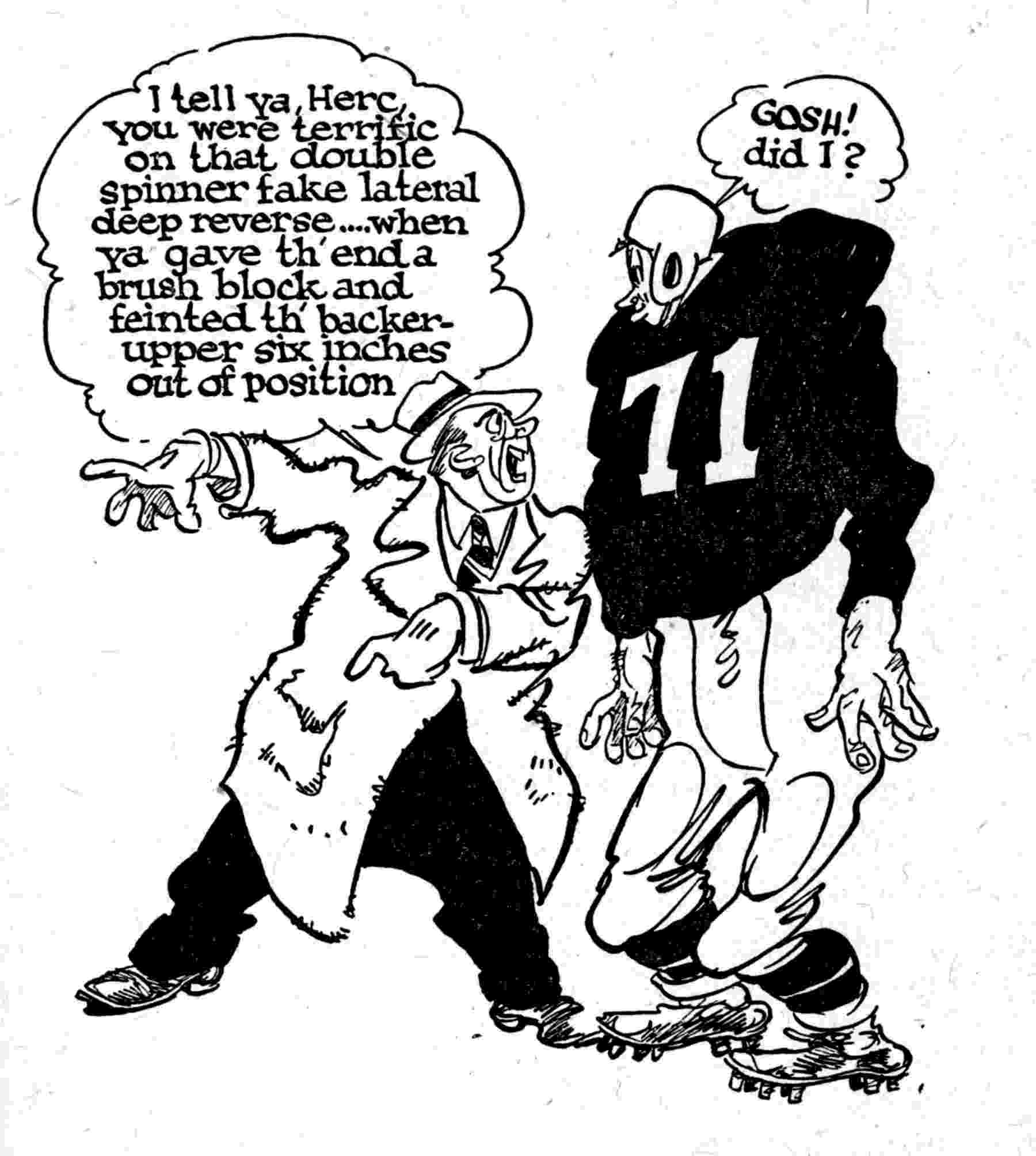 football player cartoon a football player poises to catch a turkey new yorker football player cartoon