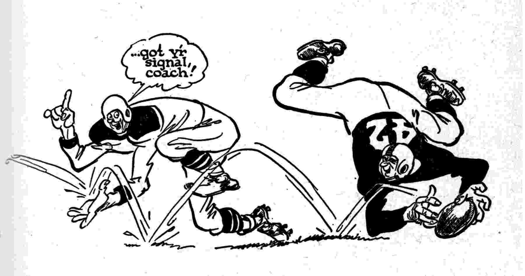 football player cartoon cartoon snap baseball and football cartoons by willard mullin player football cartoon 1 1