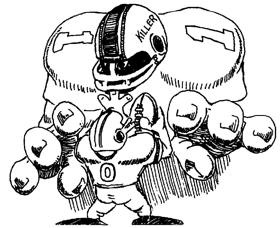 football player cartoon v for victory or v for violence beckys fund beckys fund player football cartoon