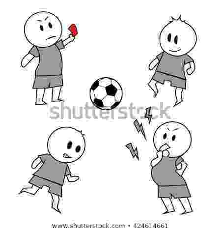 football player cartoon vector hand drawn doodle set football stock vector player football cartoon