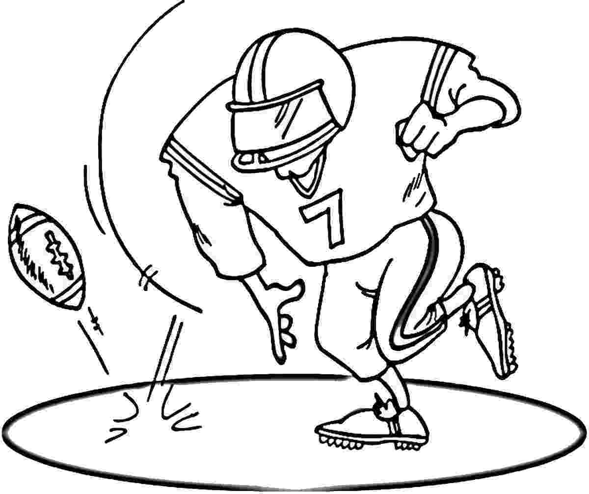 football player coloring sheet coloring pages football coloring pages free and printable player coloring sheet football