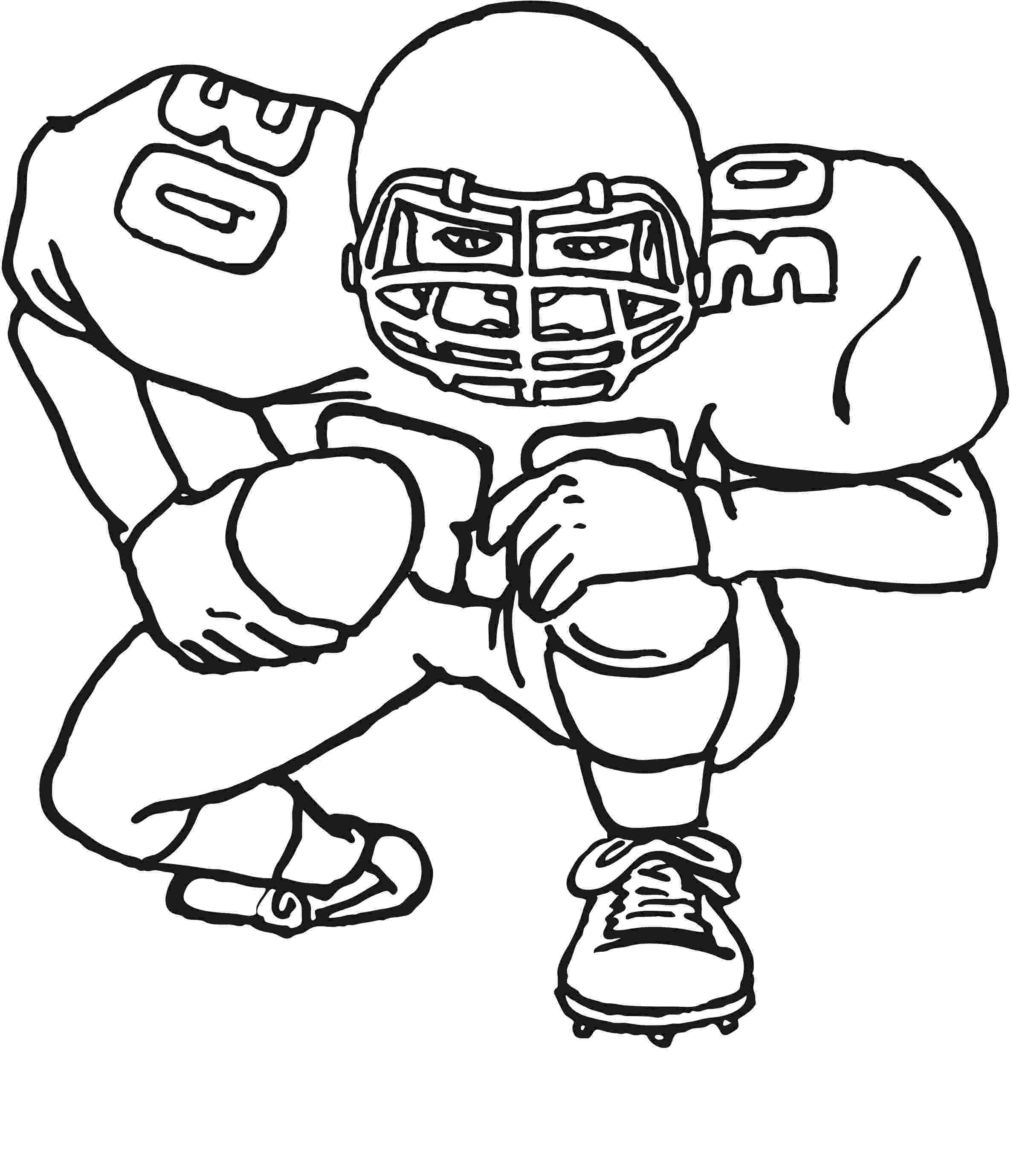 football player coloring sheet football player coloring pages to download and print for free player coloring football sheet