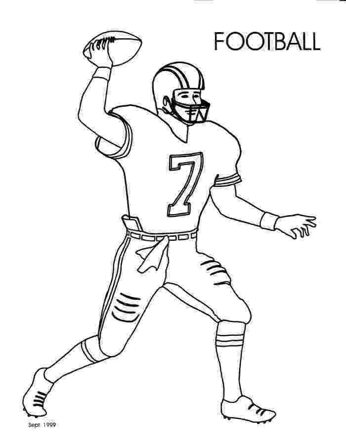 football player coloring sheet printable football player coloring pages for kids cool2bkids football sheet coloring player