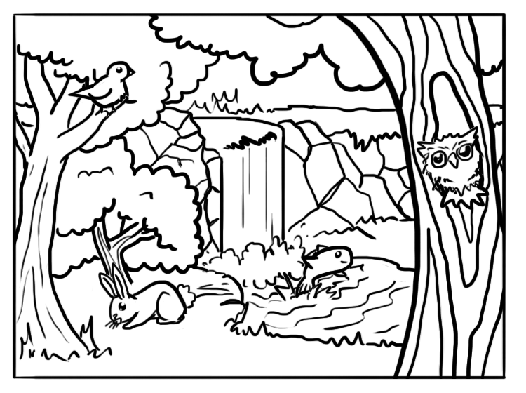 forest animals coloring pages forest coloring pages best coloring pages for kids coloring forest animals pages