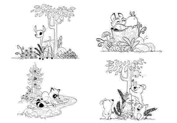 forest animals coloring pages items similar to woodland forest animals coloring pages animals forest coloring pages