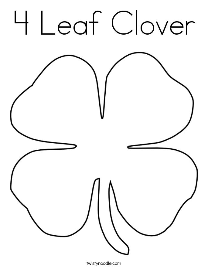 four leaf clover color page 4 leaf clover coloring page coloring home four page color clover leaf