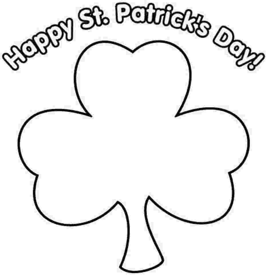 four leaf clover color page four leaf clover st patric day coloring pages free page clover color four leaf