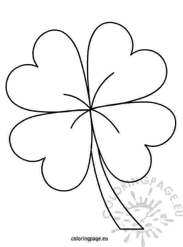 four leaf clover coloring 4 leaf clover coloring page coloring home coloring leaf four clover