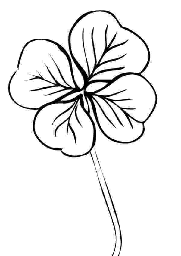 four leaf clover coloring 7 best irish images on pinterest four leaf clover irish clover coloring leaf four