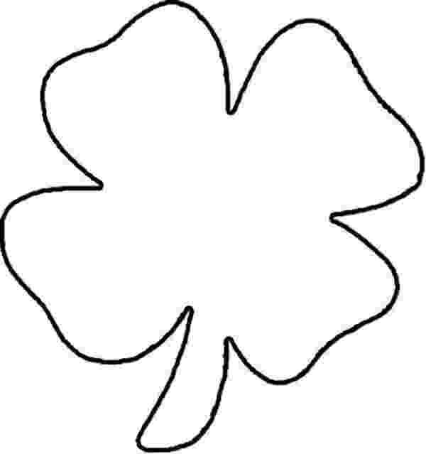 four leaf clover coloring four leaf clover coloring pages best coloring pages for kids clover leaf four coloring