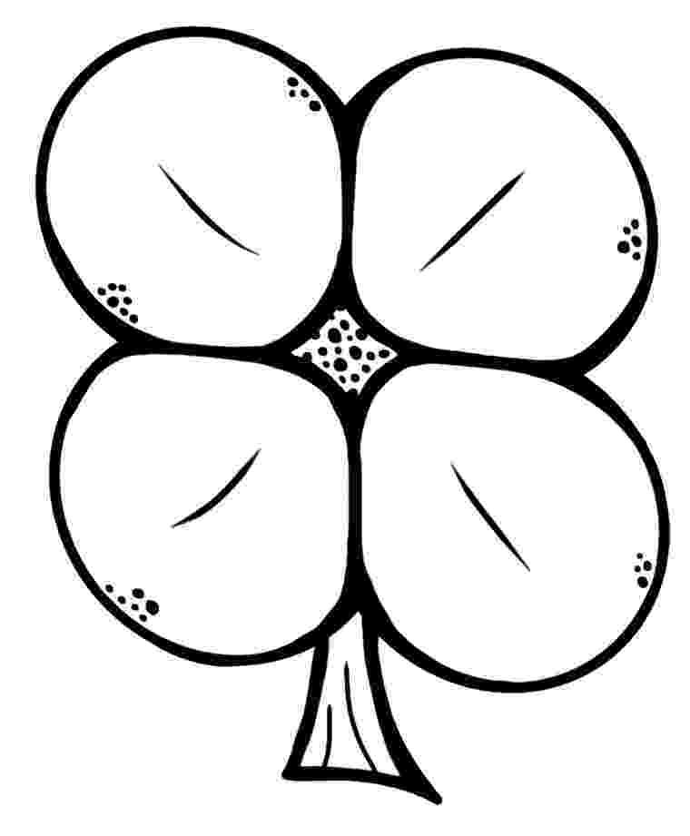 four leaf clover coloring four leaf clover coloring pages best coloring pages for kids coloring four leaf clover 1 1
