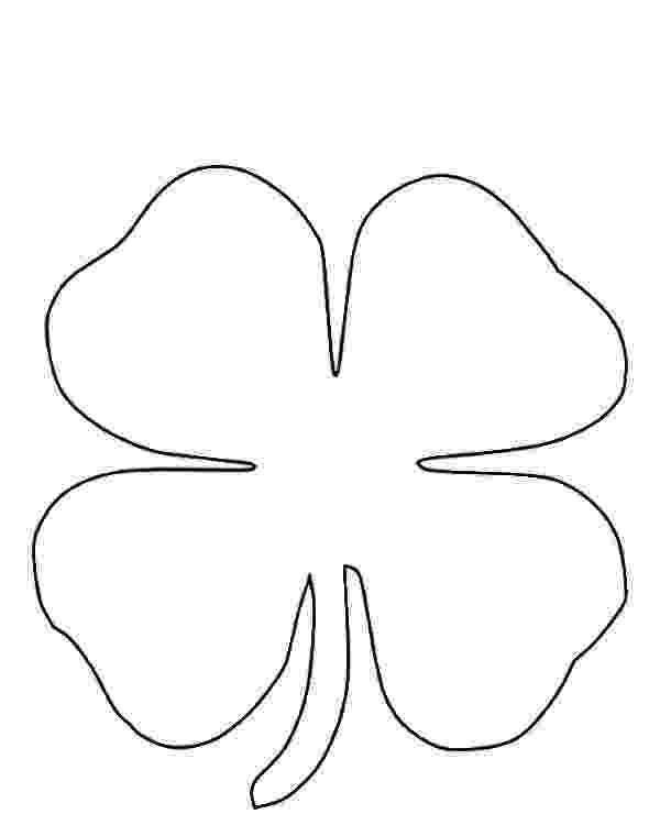 four leaf clover coloring four leaf clover coloring pages best coloring pages for kids four leaf clover coloring