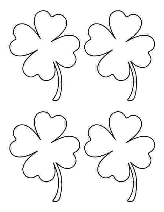 four leaf clover coloring four leaf clover good coloring page leaf coloring page clover coloring four leaf