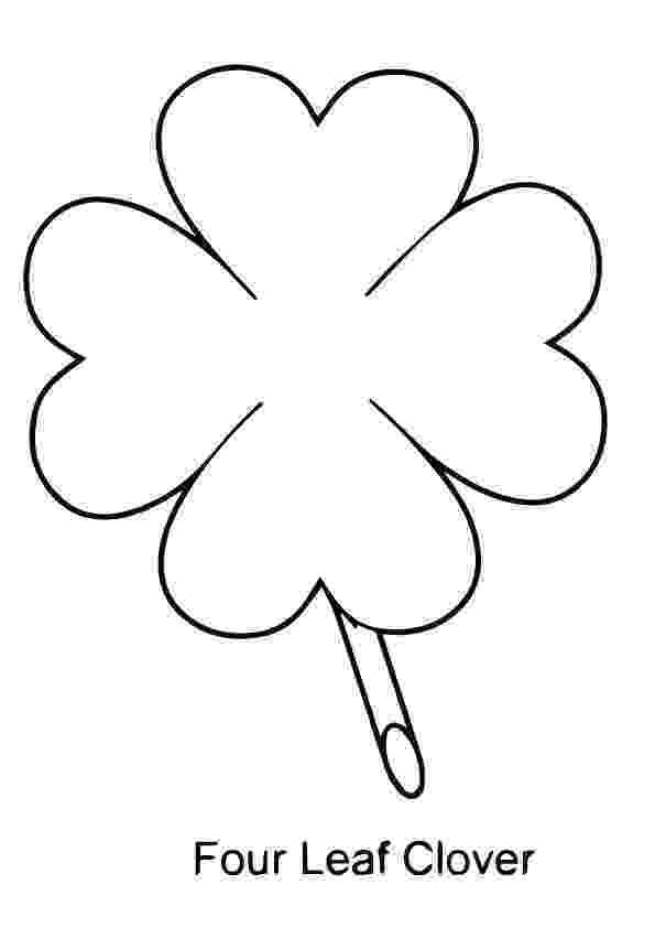 four leaf clover coloring page 4 leaf clover coloring page coloring home coloring leaf four clover page