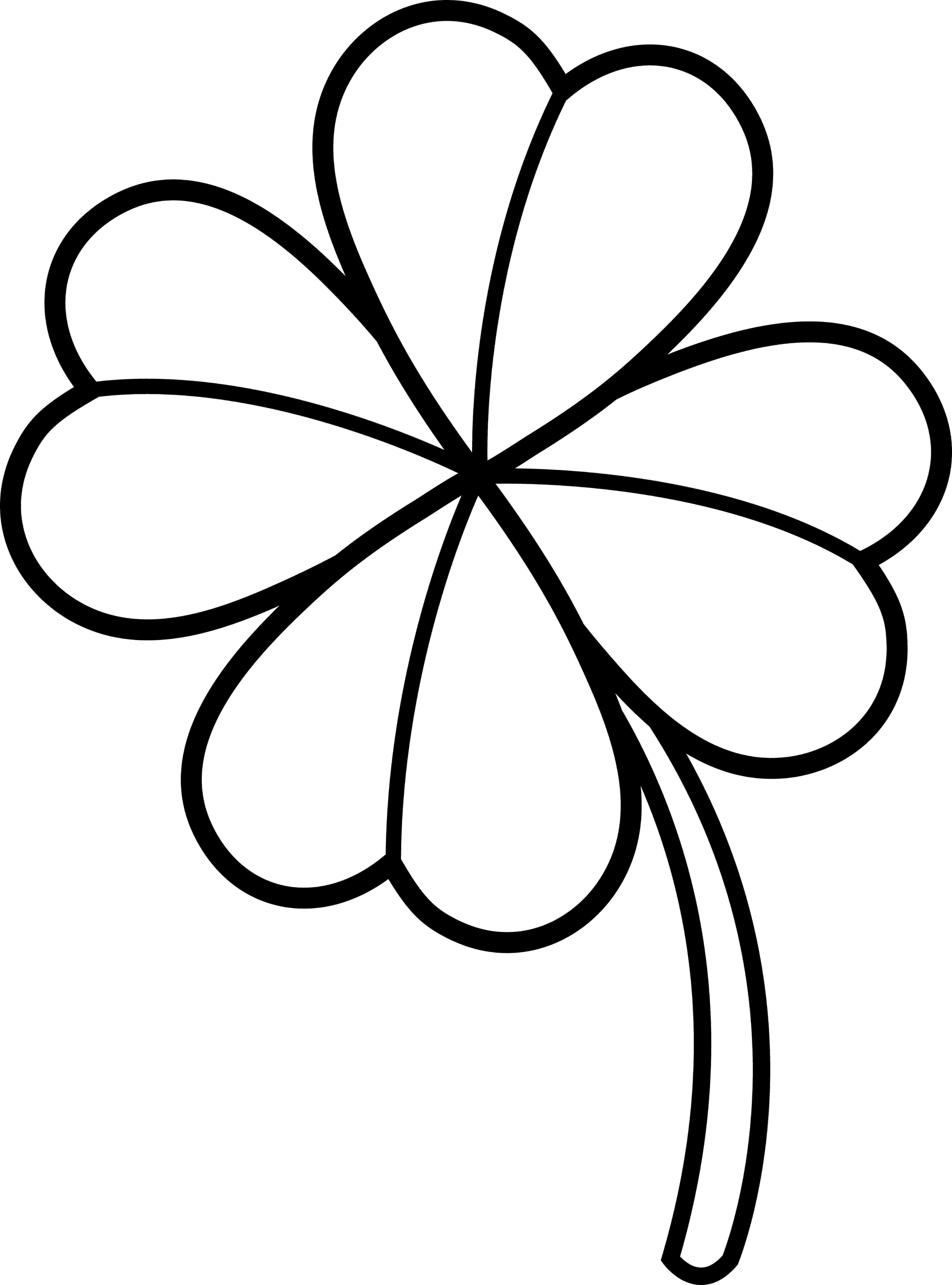 four leaf clover coloring page 4 leaf clover coloring page coloring home page leaf four coloring clover